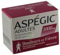 ASPEGIC ADULTES 1000 mg, poudre pour solution buvable en sachet-dose 15 à Mérignac