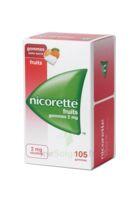 Nicorette 2 mg Gomme à mâcher médicamenteuse sans sucre fruits Plq/105 à Mérignac