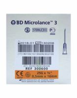 BD MICROLANCE 3, G25 5/8, 0,5 mm x 16 mm, orange  à Mérignac