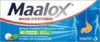 MAALOX HYDROXYDE D'ALUMINIUM/HYDROXYDE DE MAGNESIUM 400 mg/400 mg Cpr à croquer maux d'estomac Plq/40
