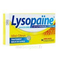 LYSOPAÏNE MAUX DE GORGE CETYLPYRIDINIUM LYSOZYME MIEL CITRON SANS SUCRE, comprimé à sucer édulcoré au sorbitol et à la saccharine à Mérignac