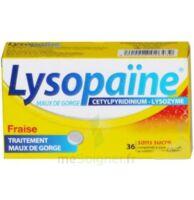 LYSOPAÏNE MAUX DE GORGE CETYLPYRIDINIUM LYSOZYME FRAISE SANS SUCRE, comprimé à sucer édulcoré au sorbitol et à la saccharine à Mérignac
