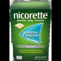 NICORETTE 2 mg Gom à mâcher médic sans sucre menthe fraîche Plq/105gom à Mérignac