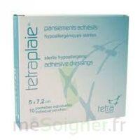 TETRAPLAIE Pansement adhésif stérile 5x7,2cm Pochette/10 à Mérignac