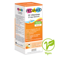 Pédiakid 22 Vitamines et Oligo-Eléments Sirop abricot orange 125ml à Mérignac