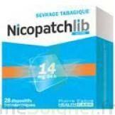 NICOPATCHLIB 14 mg/24 h Dispositifs transdermiques B/28 à Mérignac