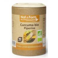 Nat&Form Eco Responsable Curcuma + Pipérine Bio Gélules B/90 à Mérignac